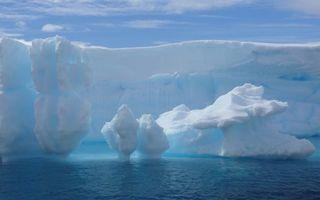 Бесплатные фото море,льдины,айсберг,небо,облака