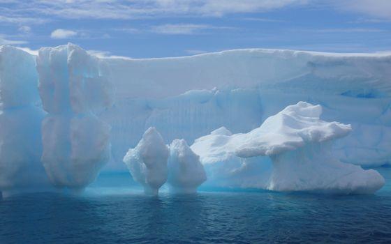 Фото бесплатно море, льдины, айсберг
