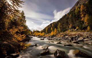 Бесплатные фото река,течение,камни,валуны,горы,лес