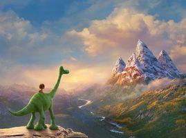 Заставки Хороший динозавр,мультфильм,фэнтези,комедия,приключения,семейный