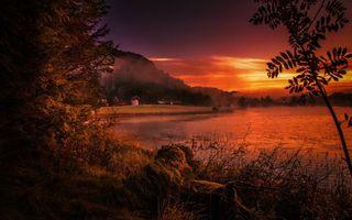 Фото бесплатно закат, солнца, река