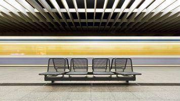 Фото бесплатно метро, кресла, линия, остановка