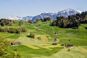 Бесплатные фото горы,холмы,дома,деревья,пейзаж