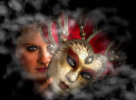 портретное фото,девушка,Venetian Mystery,Венецианская маска