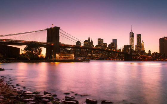Фото бесплатно вечер, река, камни