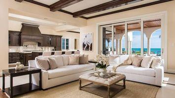 Фото бесплатно гостиная, диваны, столик