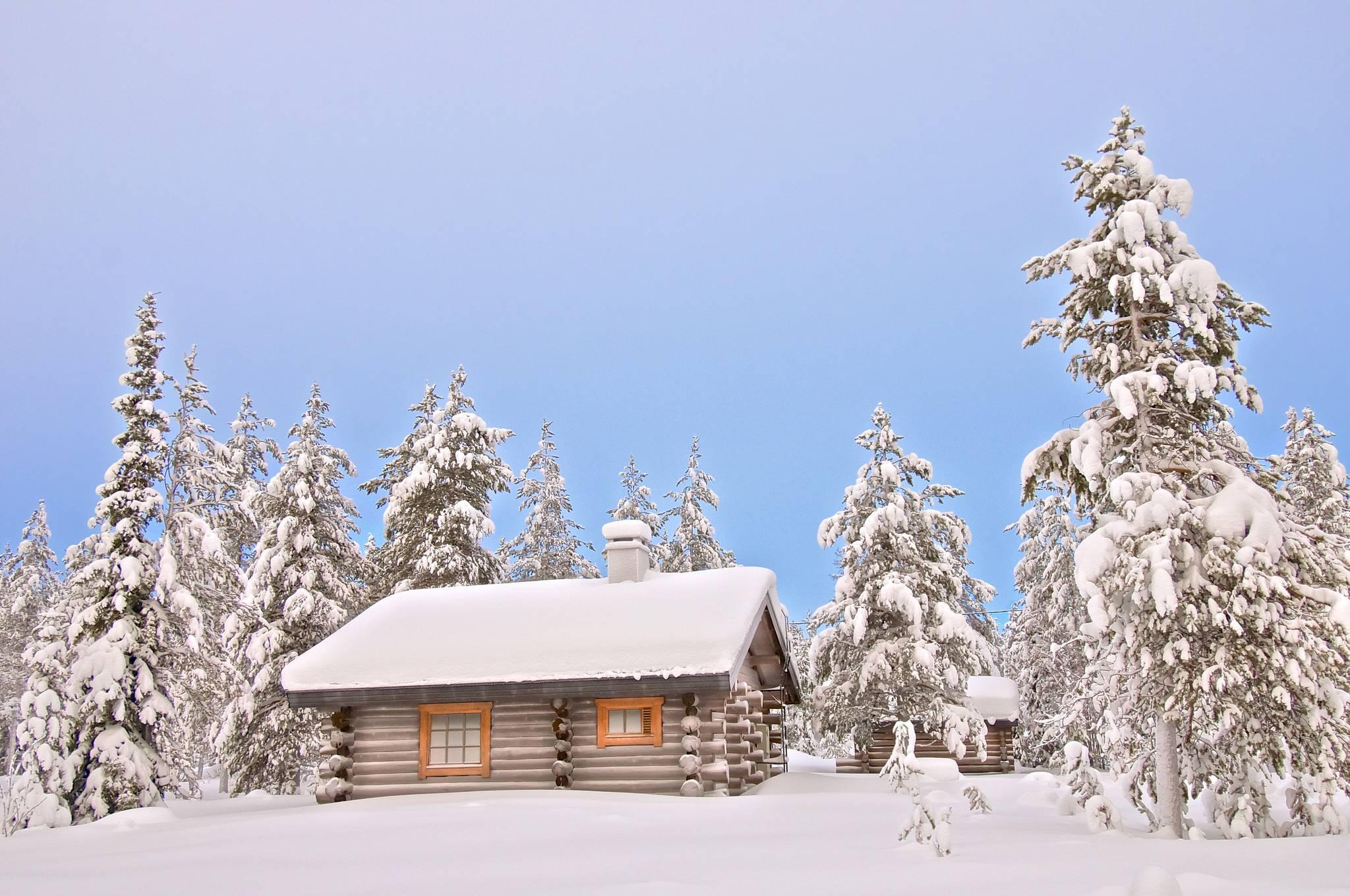 Зимние пейзажи с домами картинки и фото