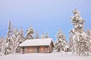 Бесплатные фото дача,домик,зима,снег,сугробы,лес,деревья