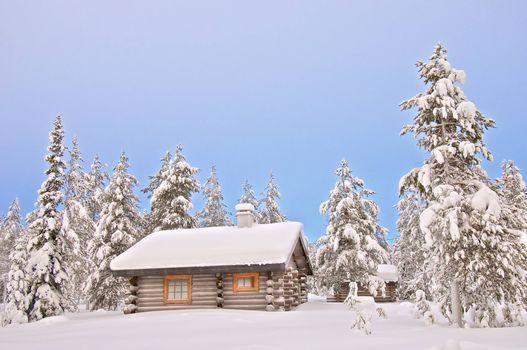 Фото бесплатно дача, домик, зима
