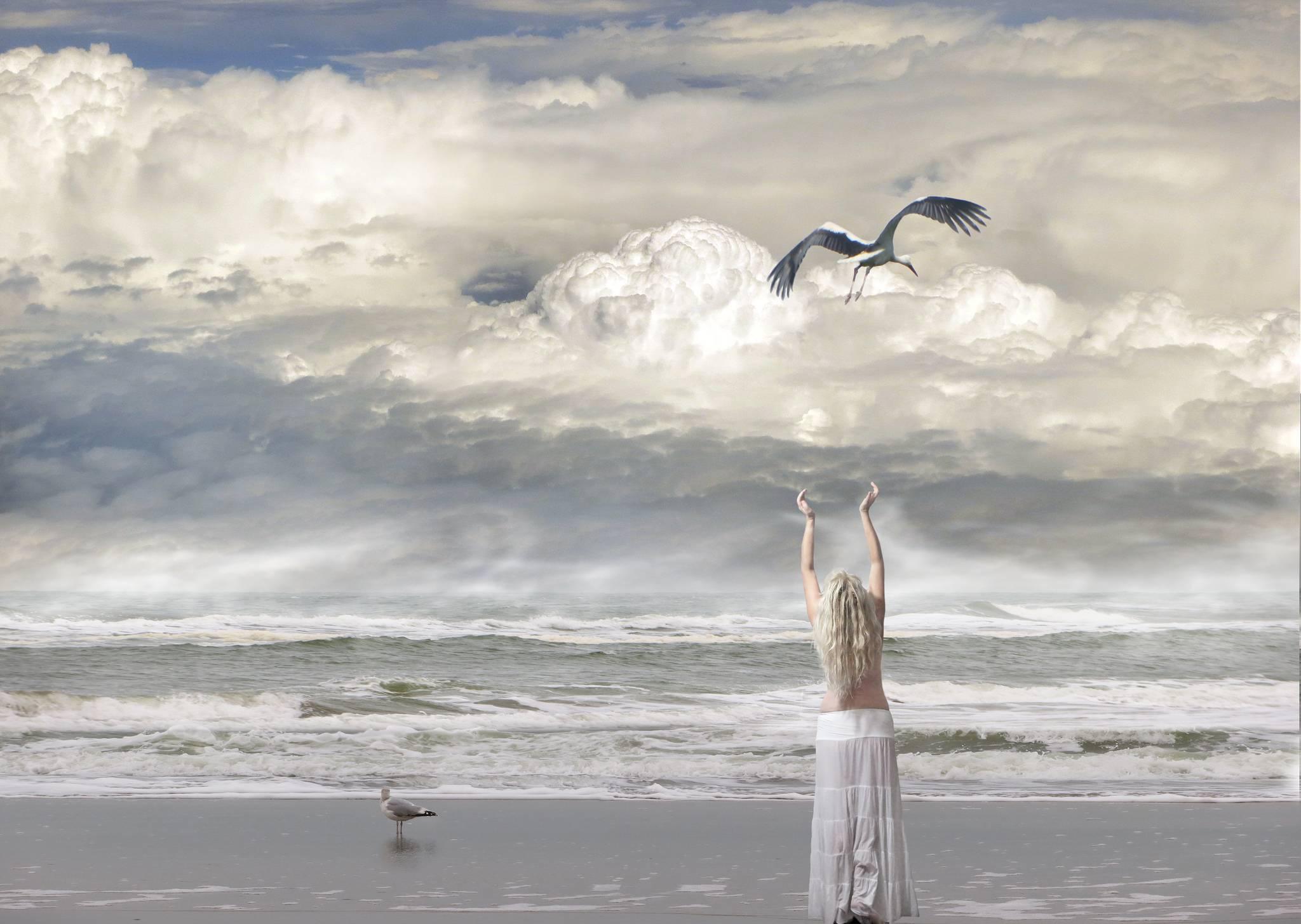 море, волны, берег