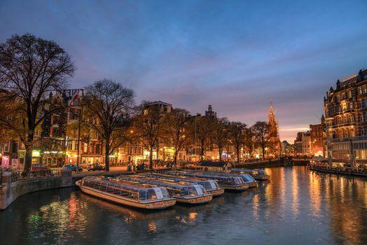 Фото бесплатно панорама, столица и самый большой город Нидерландов, Амстердам