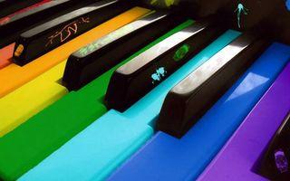 Заставки клавиши, цветные, краска