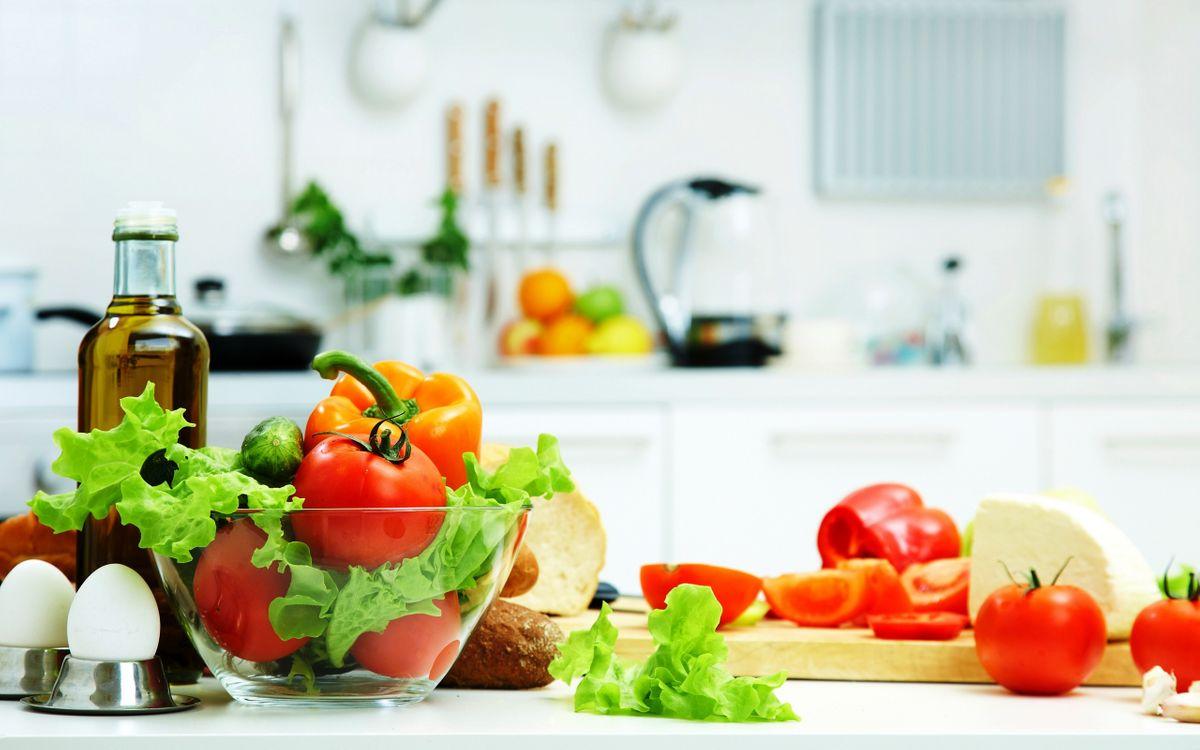 Фото бесплатно кухня, стол, овощи - на рабочий стол