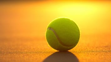 Фото бесплатно корт, теннис, большой, мяч, свет, тень