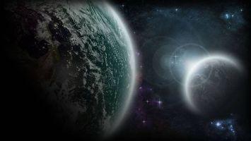 Бесплатные фото планеты,солнце,звезды,свечение,вакуум,невесомость