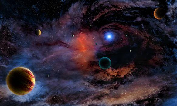 Заставки космос, звёзды, планеты