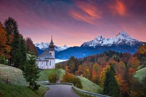 Photo free Maria Gern Church, Germany, autumn