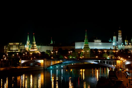 Screensaver moscow, the kremlin on the desk