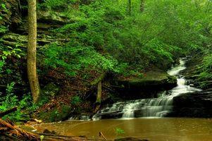 Фото бесплатно водопад, скалы, река