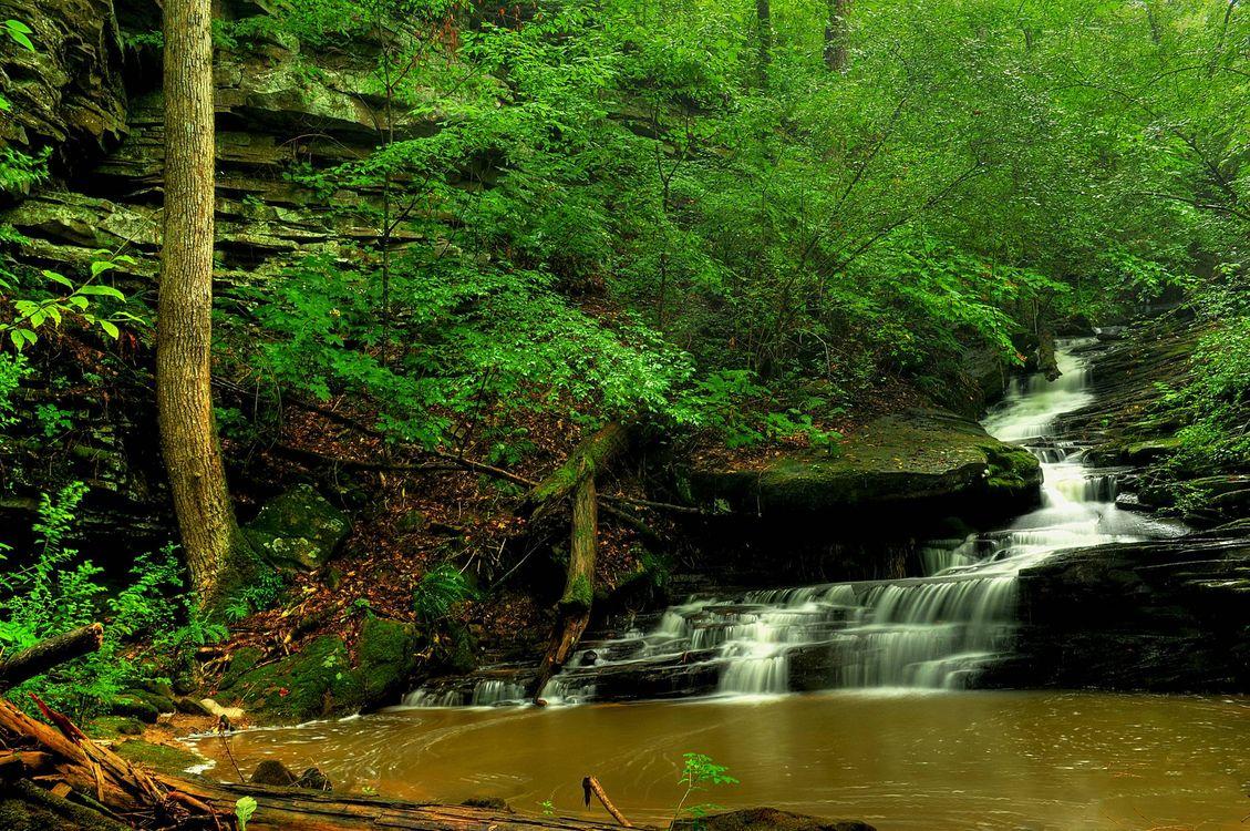 Заставка водопад, река