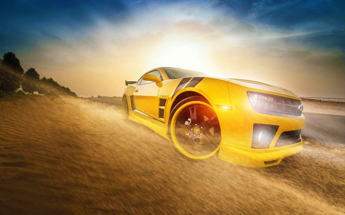 Обои Chevrolet Camaro, желтый на телефон | картинки машины - скачать