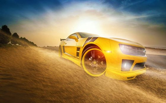 Бесплатные фото Chevrolet Camaro,желтый