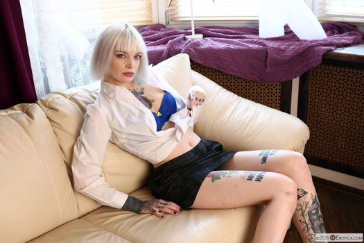 Photo free varvara tattoo, blouse, bra