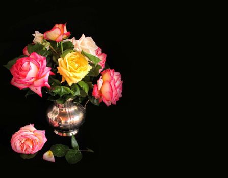Photo free vase, roses and without registration