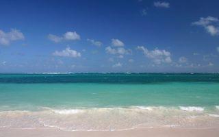 Заставки берег, море, волны, горизонт, небо, облака