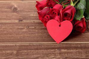 Фото бесплатно розы, роза, валентинка