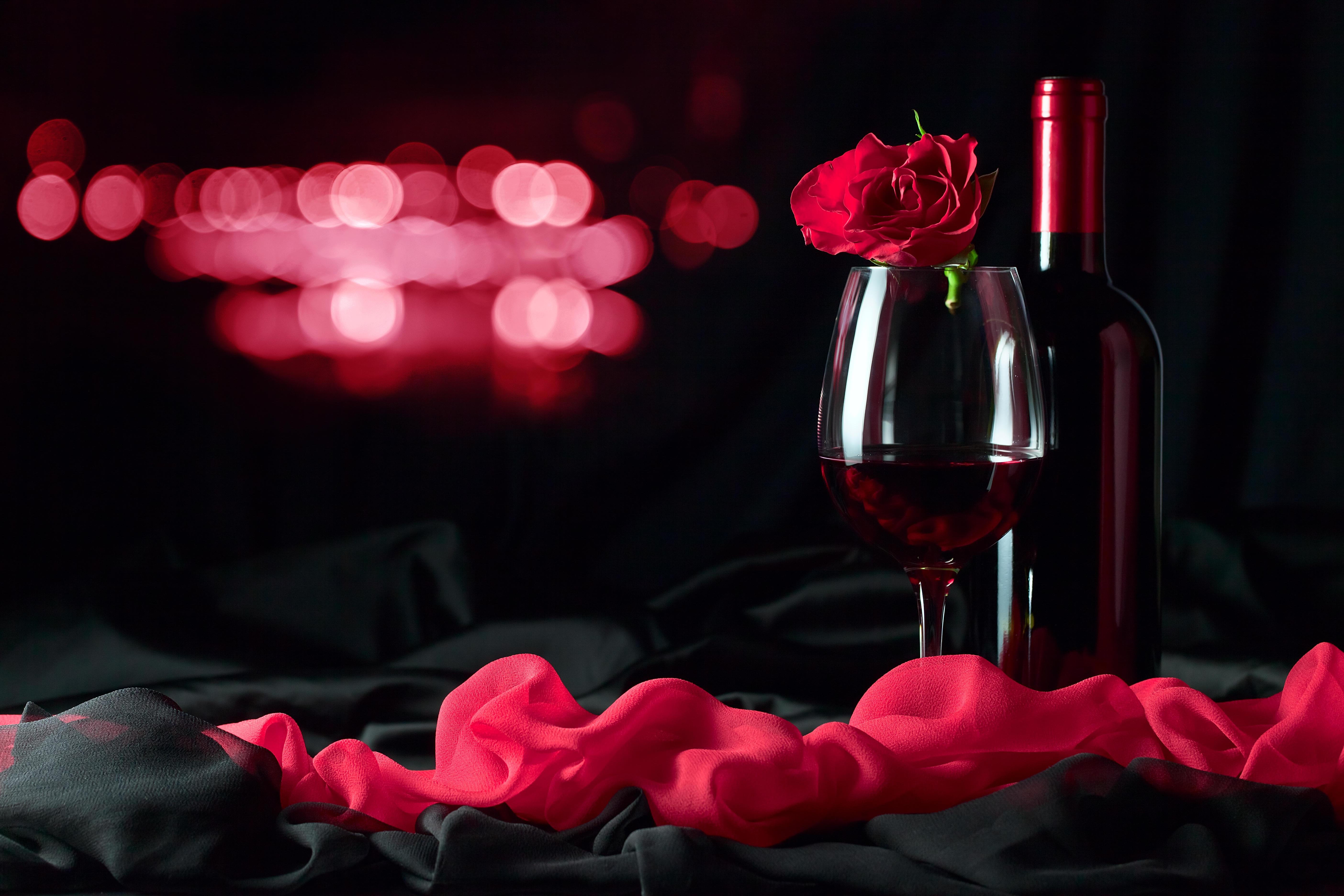 Два бокала с розами  № 750293  скачать