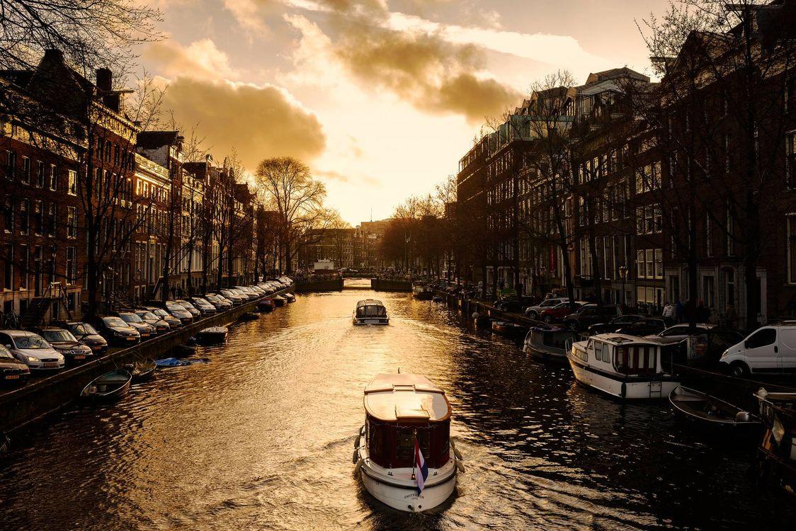 Фото бесплатно панорама, Амстердам, Нидерланды - на рабочий стол