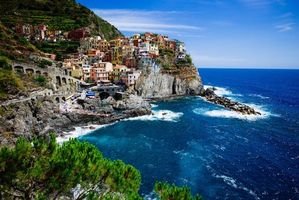 Заставки Лигурийское море, море, скалы