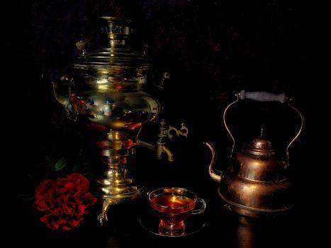 Бесплатные фото самовар,чайник,натюрморт