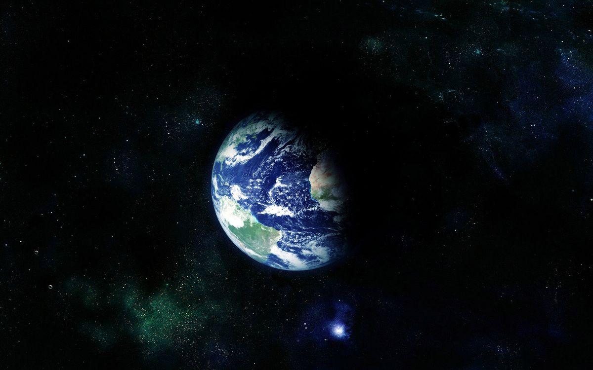 Фото бесплатно планета, земля, звезды, созвездия, свечение, невесомость, вакуум - на рабочий стол