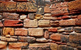Обои стена, угол, кладка, кирпич, цветной, щели