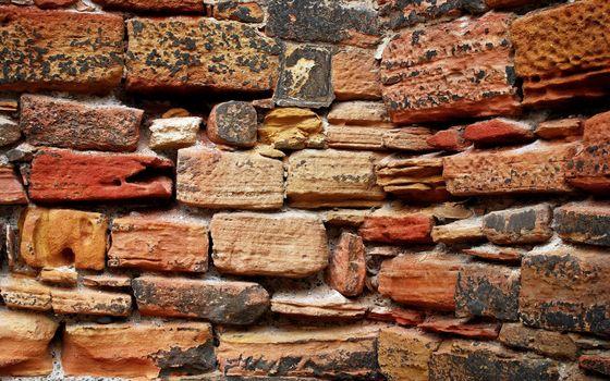 Photo free wall, angle, brickwork