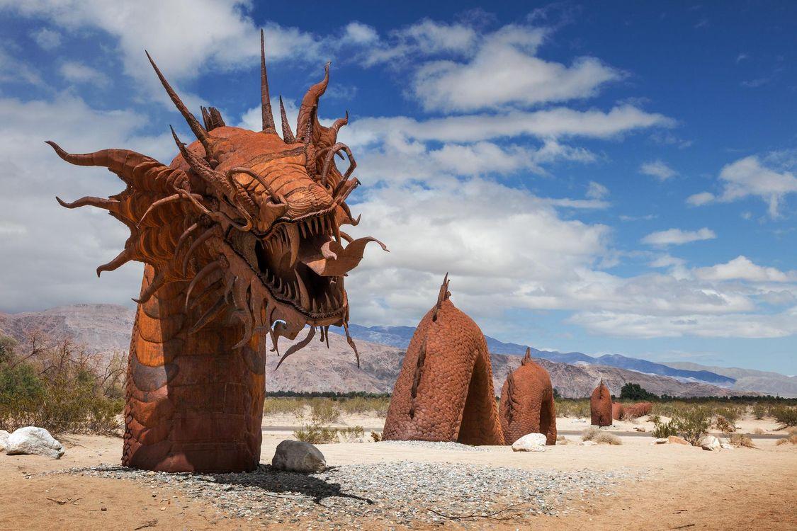 Фото бесплатно Боррего-Спрингс, Калифорния, Serpent Sculpture, Borrego Springs, California, разное