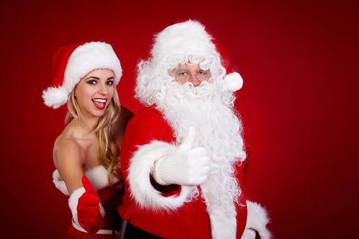 Фото бесплатно Санта-Клаус, Новый год, Снегурочка