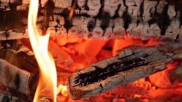 Photo free fire, logs, coals