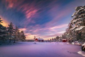 Фото бесплатно пейзаж, дом, Скандинавия