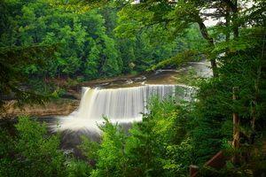 Фото бесплатно водопад, река, Мичиган