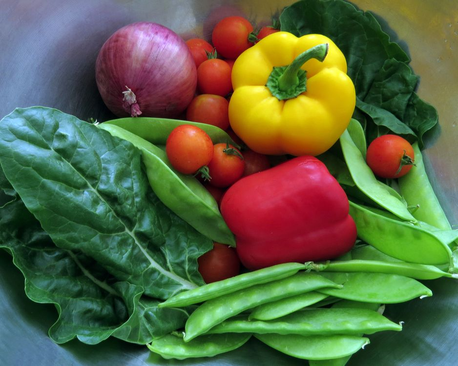 Фото бесплатно овоши, перец, лук, горох, витамины, еда