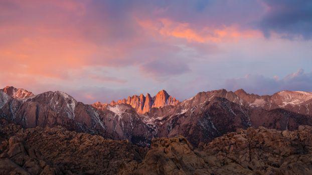 Заставки горы, холмы, закат солнца