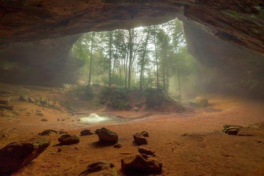 Фото бесплатно Ash Cave, Парк штата, Хокинг Хилс