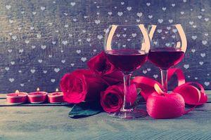 Фото бесплатно Романтика, день святого валентина, бокалы
