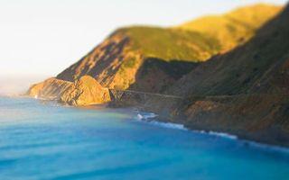 Бесплатные фото море, голубое, побережье, горы, дорога, небо