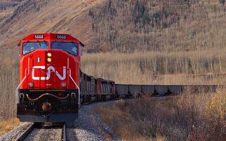 Фото бесплатно поезд грузовой, локомотив, вагоны