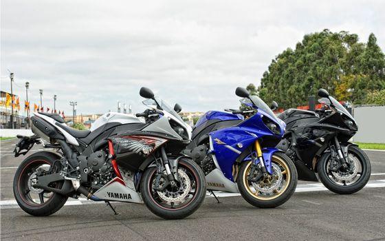 Photo free Yamaha, sportbikes, lights
