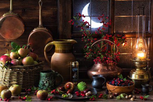 Photo free Mabon of the autumn equinox, Druidism, lantern